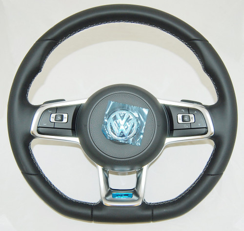 NEW GENUINE VW GOLF 6 7 POLO SCIROCCO T5 R LINE MULTIFUNCTION COMPLETE STEERING WHEEL