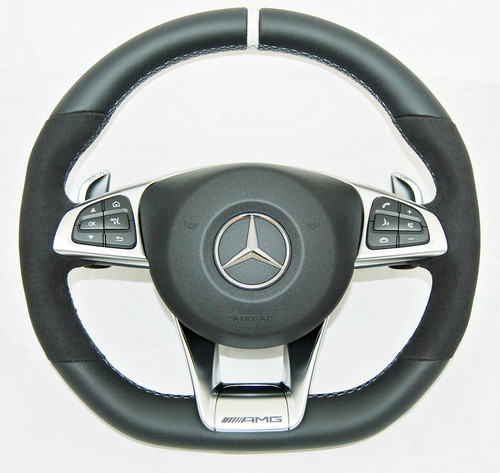 NEW GENUINE MERCEDES BENZ W205 W253 AMG COMPLETE STEERING WHEEL A2054602603