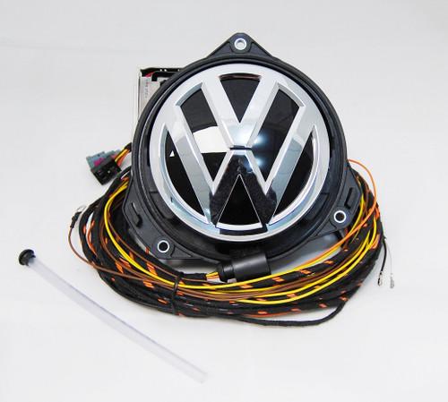 NEW OEM VW PASSAT SPORTSVAN HIGHLINE REAR VIEW CAMERA RVC LOGO EMBLEM BADGE 3G0827469BL