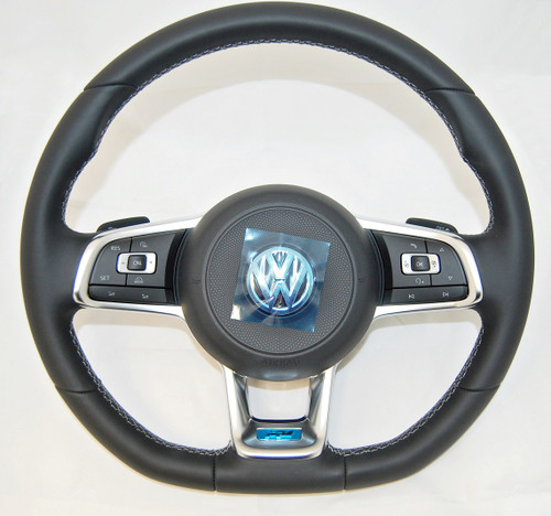 NEW GENUINE VW GOLF ARTEON PASSAT TIGUAN TOURAN R LINE COMPLETE MULTIFUNCTION STEERING WHEEL