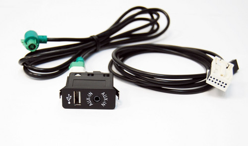 NEW BMW 1 3 5 6 7 X5 X6 Z4 F03 AUX IN USB SWITCH CABLE ADAPTER