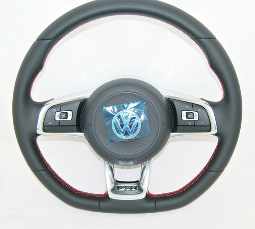 NEW GENUINE VW GOLF 6 7 POLO SCIROCCO T5 up! GTI MULTIFUNCTION COMPLETE STEERING WHEEL WITH AIRBAG