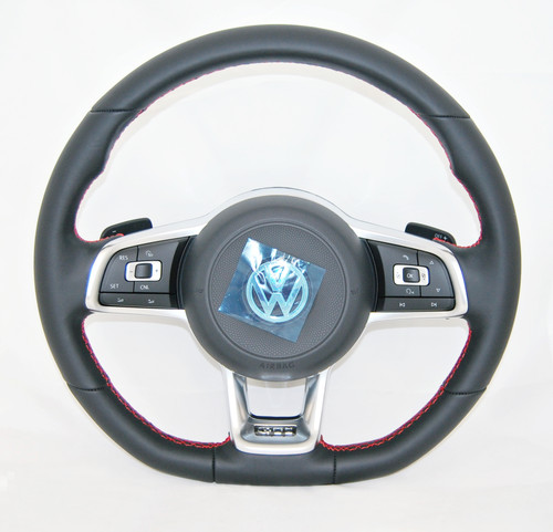 NEW GENUINE VW GOLF POLO JETTA SCIROCCO GTI MULTIFUNCTION COMPLETE STEERING WHEEL