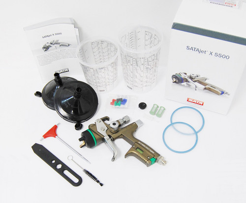 NEW SATA jet X 5500 HVLP 1,3 DIGITAL X I-NOZZLE SPRAY GUN 1062025 BAR pressure