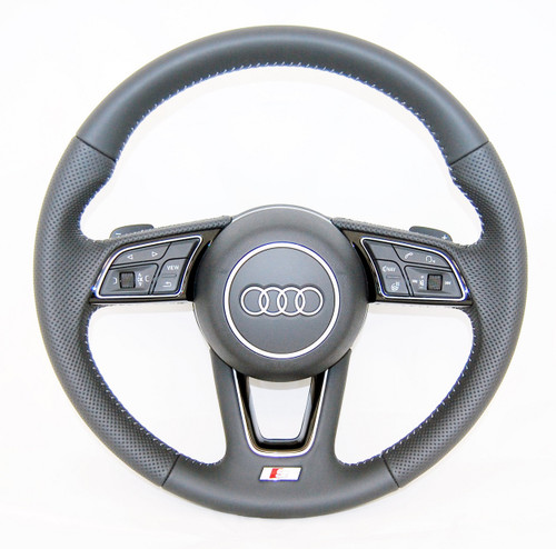 NEW GENUINE AUDI A4 S4 A5 S5 S LINE S-TRONIC TIPTRONIC PERFORATED HEATED COMPLETE STEERING WHEEL 8W0419091 DA