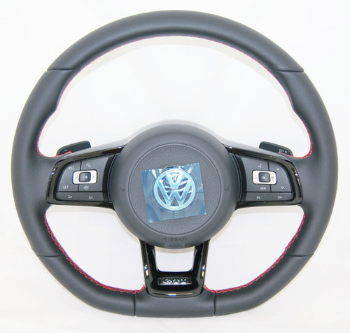 NEW GENUINE VW GOLF ARTEON PASSAT TIGUAN TOURAN GTI COMPLETE STEERING WHEEL 5G0419091