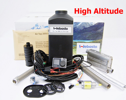 NEW WEBASTO AIR TOP 2000 STC RV PETROL BENZINE HIGH ALTITUDE HEATER HD REMOTE