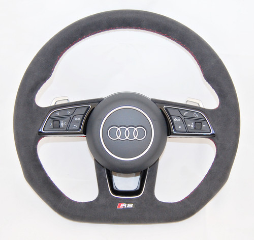 NEW OEM AUDI RS A4 S4 A5 S5 A3 Q2 FULL ALCANTARA COMPLETE STEERING WHEEL 8W0419091 FF
