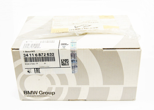 NEW OEM BMW 5' F10 F11 FRONT BRAKE PADS SET REPAIR KIT 34116872632