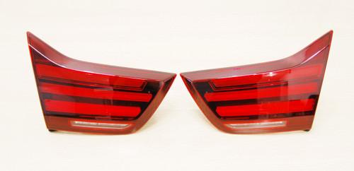 NEW OEM BMW F32 F33 F36 F83 BLACK LINE REAR LIGHTS KIT IN TRUNK LID 63219491585 / 63219491586