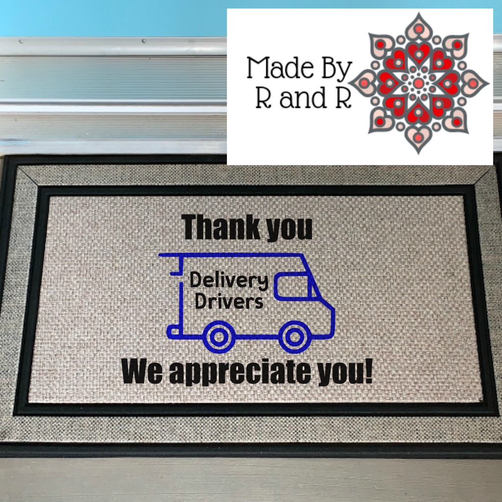 Thank You Delivery Drivers Doormat