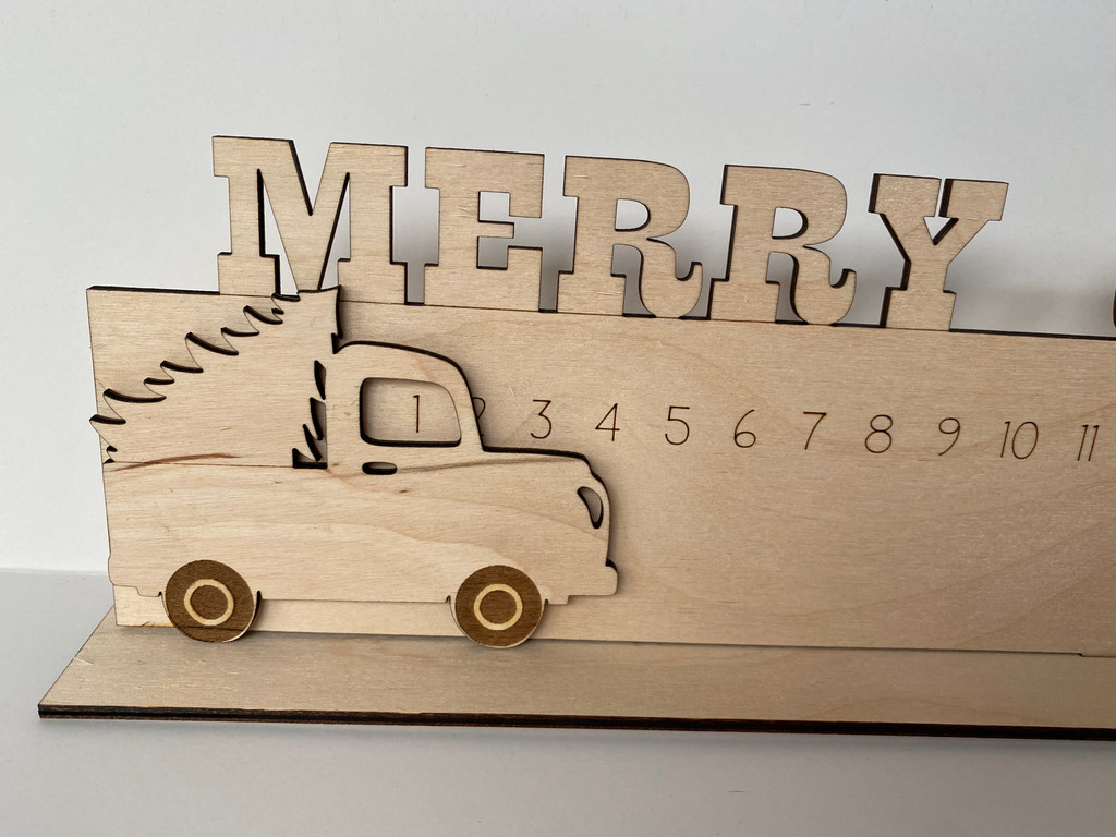 Merry Christmas Truck Sign  ***Digital Laser Cut File Only***