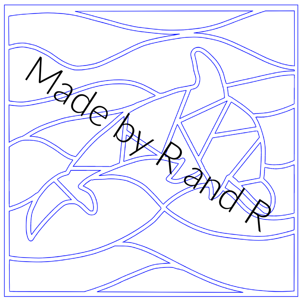 Dolphin Mosaic **Digital Laser Cut File Only***