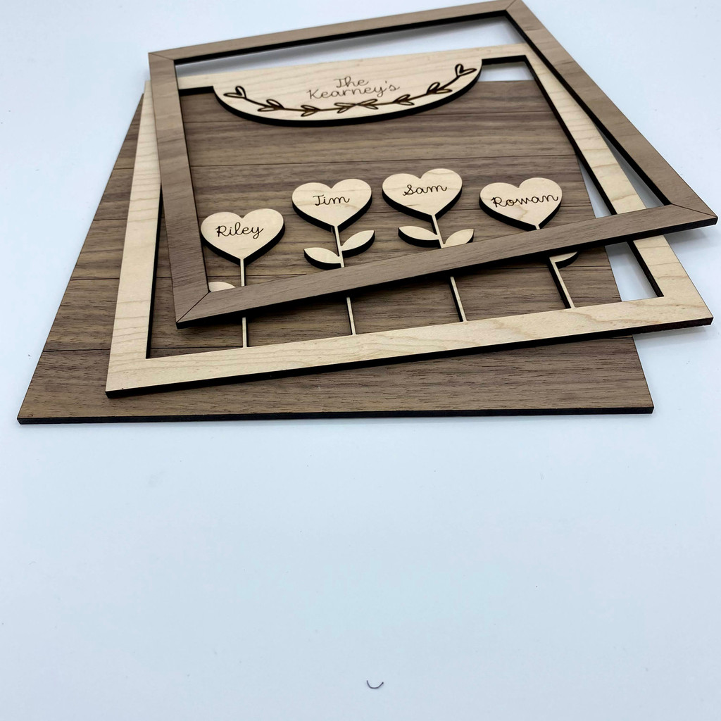 Love Grows Here Shiplap Sign ***Digital Laser Cut File Only***