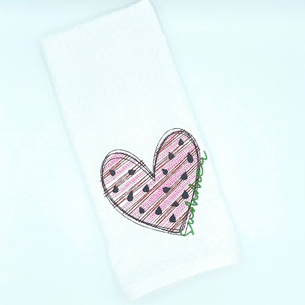 Summer Embroidered Dish Towel