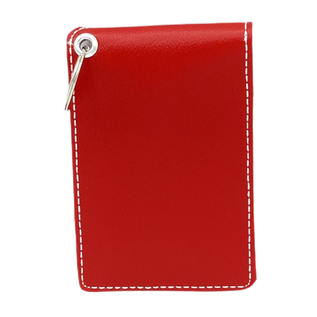 Faux Leather Business Card/Credit Card/ID Holder with Keychain