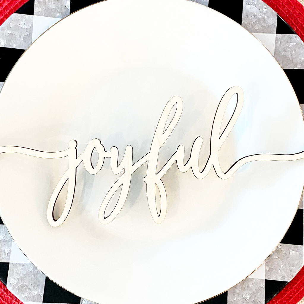 Christmas Place Setting Wood Words (Set of 4)