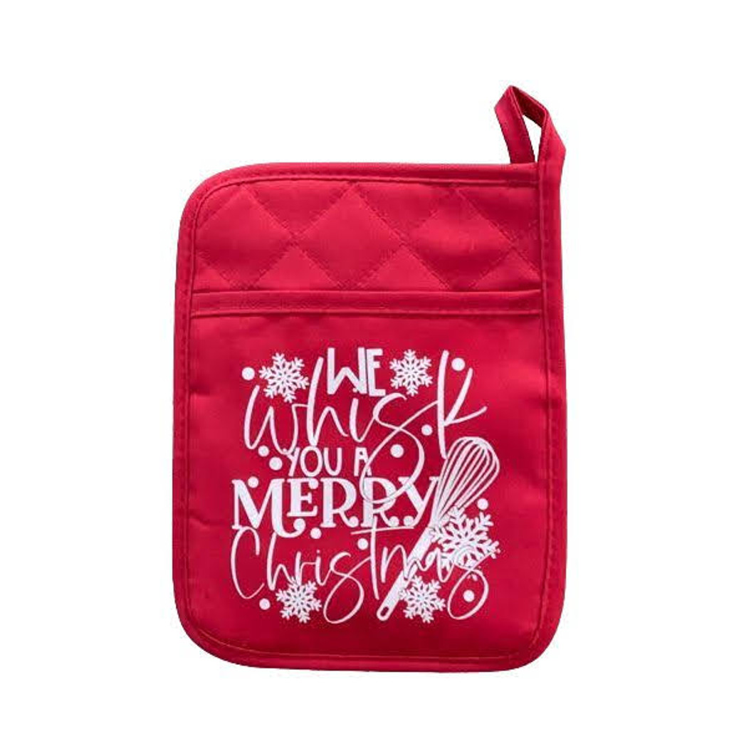 We Whisk You A Merry Christmas Pot Holder
