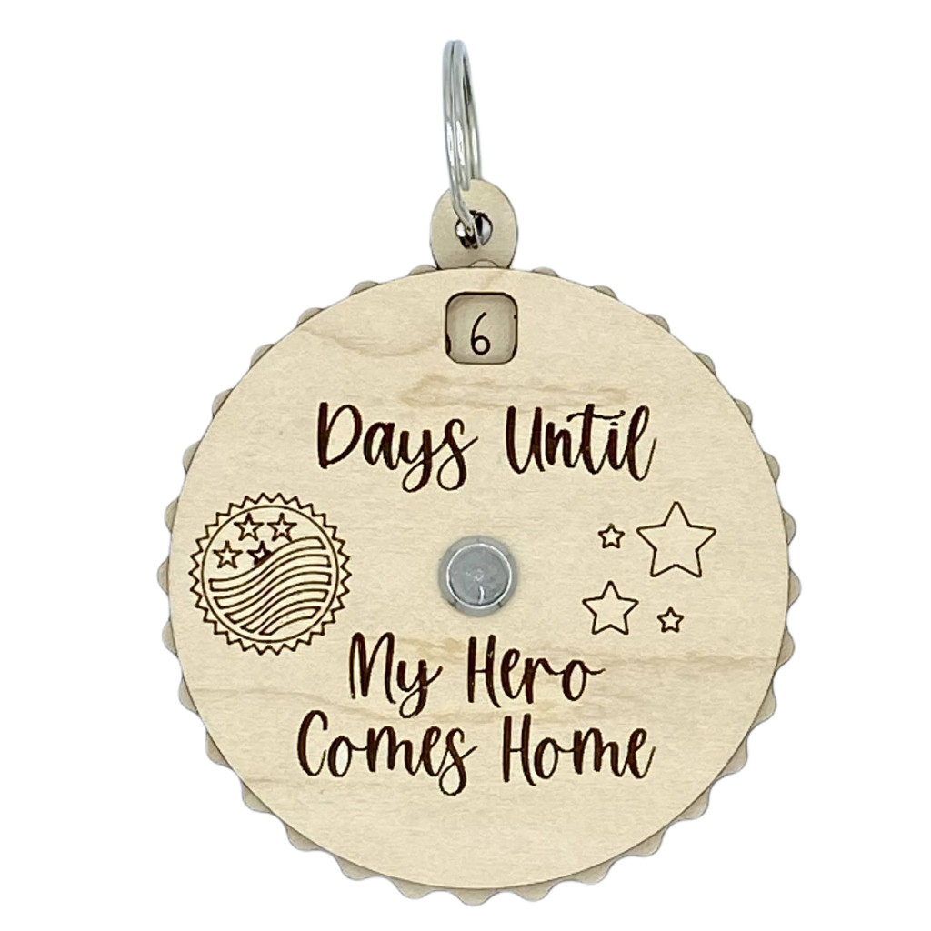Days Until My Hero Comes Home Countdown Spinner