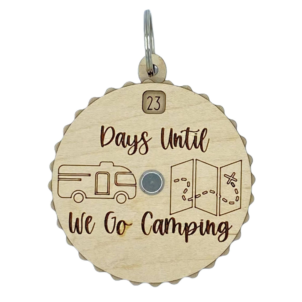 Days Until We Go Camping Countdown Spinner