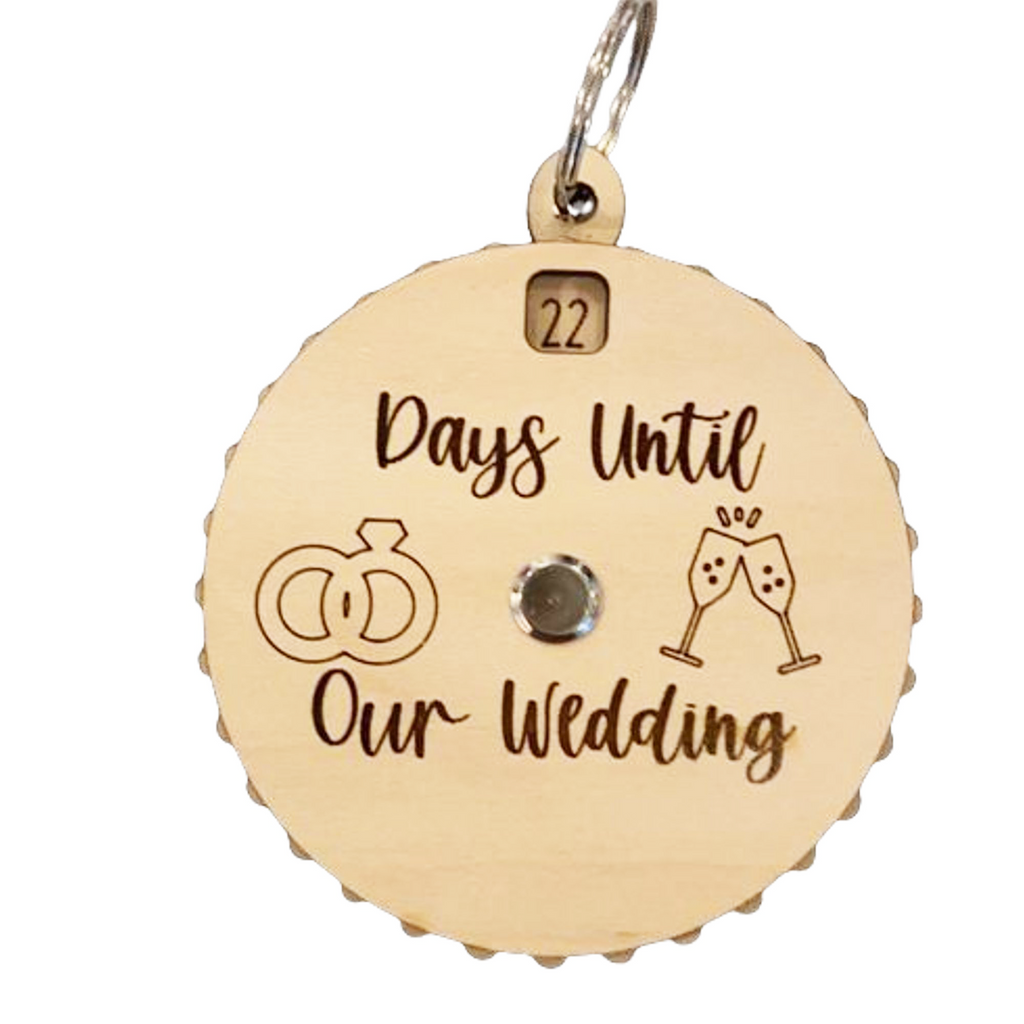 Days Until Our Wedding Countdown Spinner