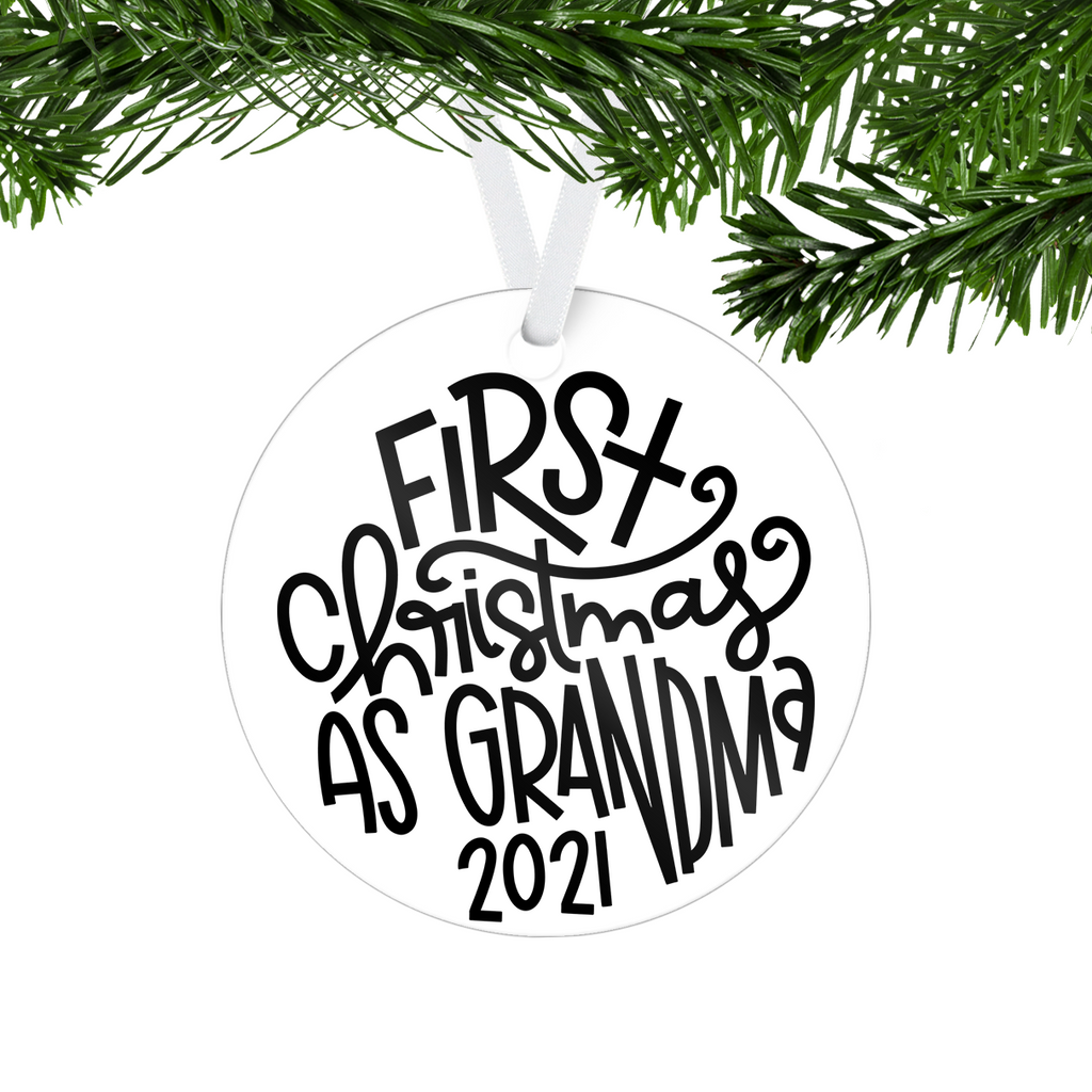 First Christmas One Sided Ornament