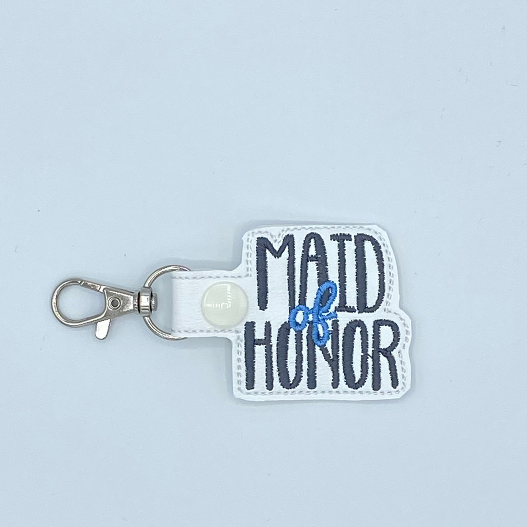 Maid Of Honor Keychain With Clip