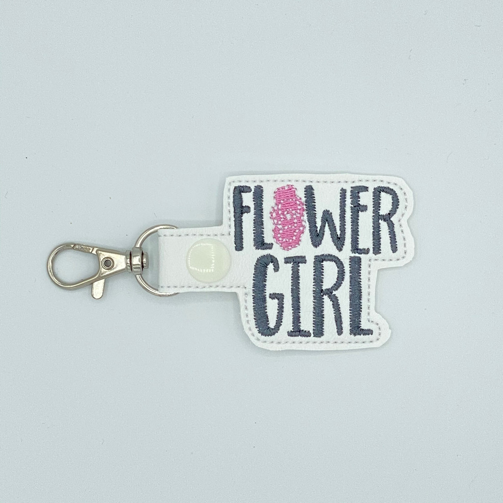Flower Girl Keychain With Clip