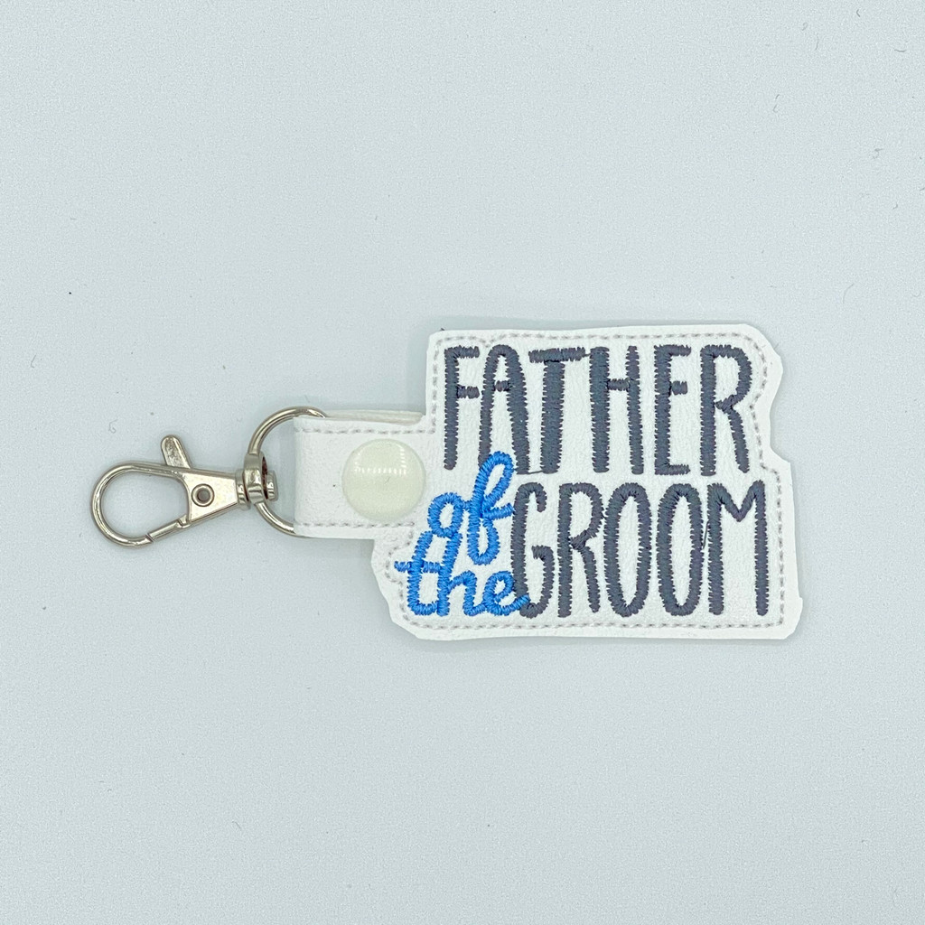 Father Of The Groom Keychain With Clip