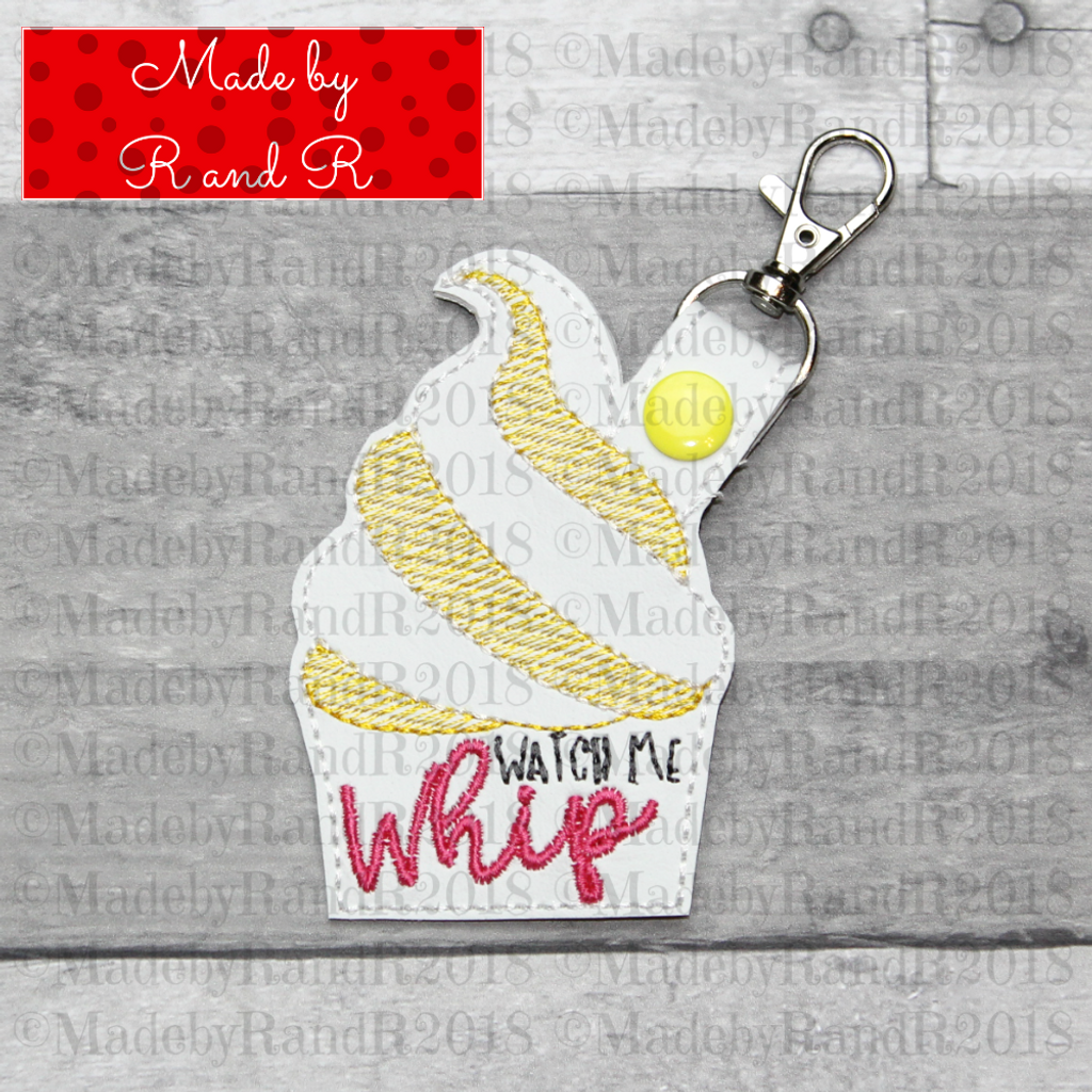 Watch Me Whip Keychain with Clip (Pink)