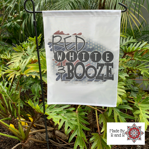 Red White And Booze Garden Flag