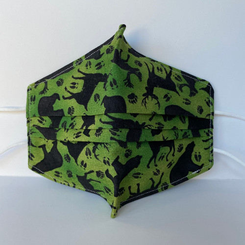 100% Cotton Moose Wildlife Fabric Face Covering with Cord Elastic