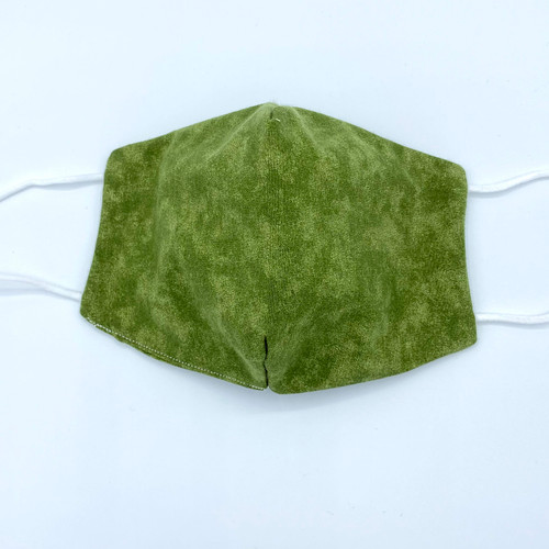 Olive Green Mask, 100% cotton, 3 Layers