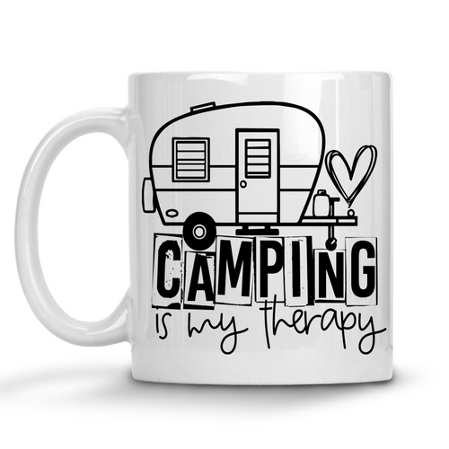 Camping Is My Therapy Mug