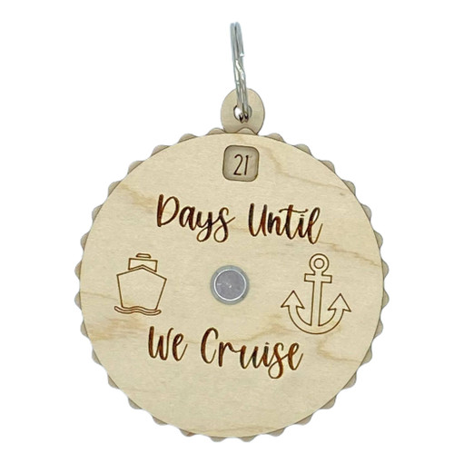 Days Until We Cruise Countdown Spinner