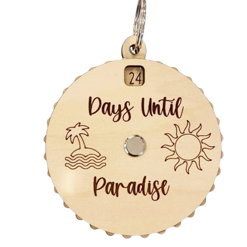 Days Until Paradise Countdown Spinner