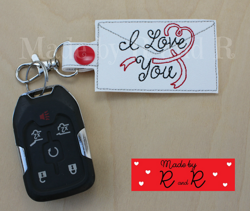 I Love You Keychain with attached clip