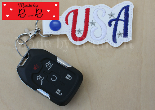 USA Keychain with attached clip