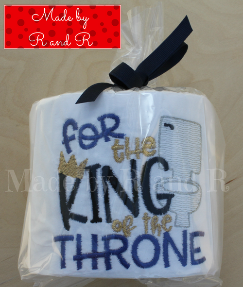 For The King Of The Throne Embroidered Toilet Paper