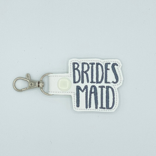 Bridesmaid Keychain With Clip