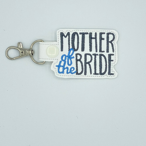 Mother Of The Bride Keychain With Clip