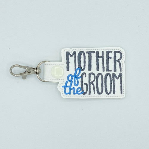 Mother Of The Groom Keychain With Clip