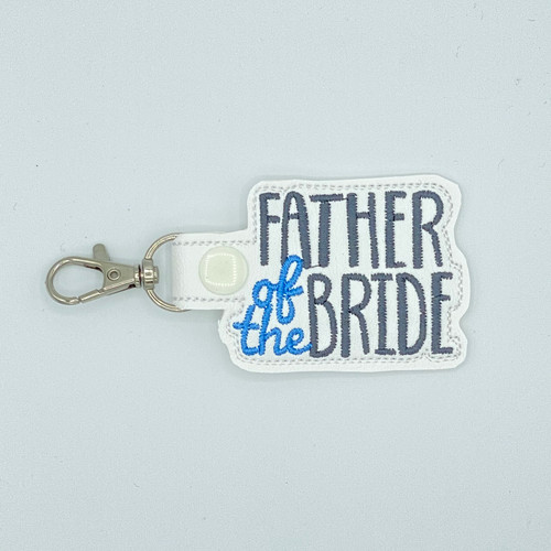 Father Of The Bride Keychain With Clip