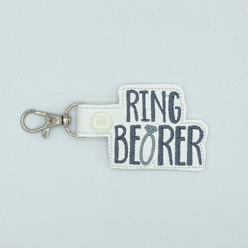 Ring Bearer Keychain With Clip