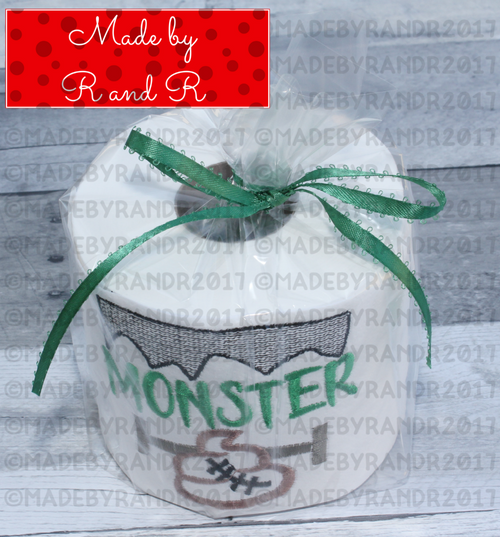 Monster Poo Embroidered Toilet Paper