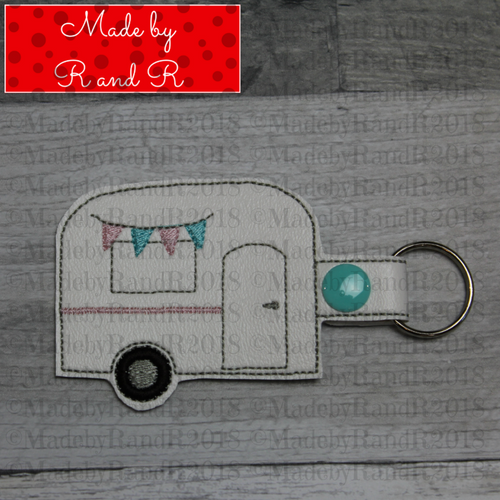 Camper Keychain with Clip