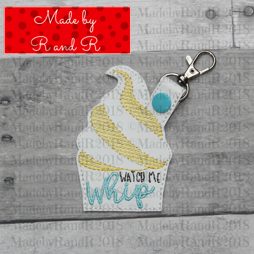 Watch Me Whip Keychain with Clip (Blue)