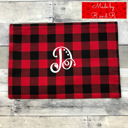Monogram Holiday Placemat D