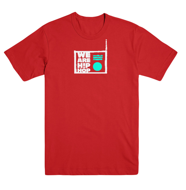 Front features the We Are Hip Hop official logo in a 2-color print