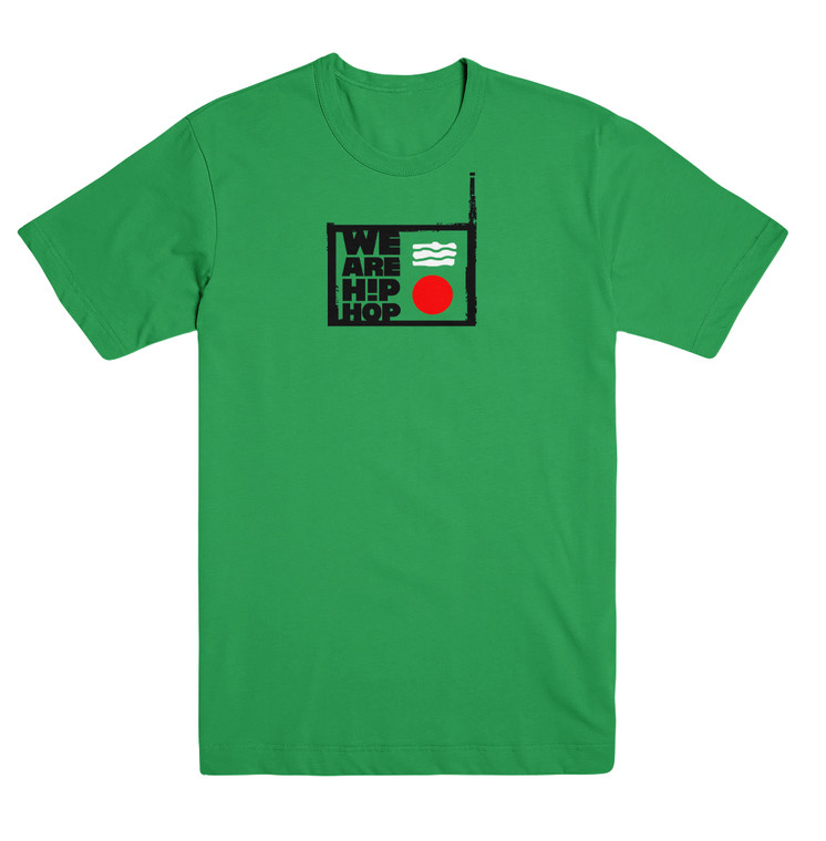Front features the We Are Hip Hop official logo in a 3-color print
